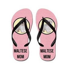 Cute Maltese dog funny Flip Flops