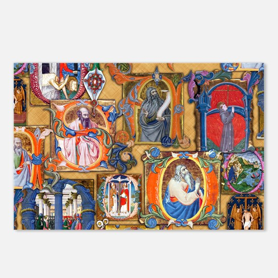 Medieval Illuminations Postcards (Package of 8)