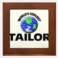 World's Coolest Tailor Framed Tile