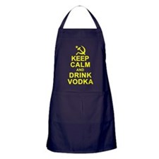Keep Calm and Drink Vodka Apron (dark)