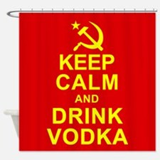 Keep Calm and Drink Vodka Shower Curtain