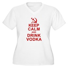 Keep Calm and Drink Vodka Plus Size T-Shirt