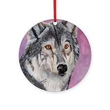 Purple Wolf Ornament (Round)