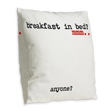 Unique Bed and breakfast Burlap Throw Pillow