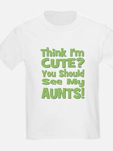 Think I'm Cute? AuntS! (PLURA Kids T-Shirt