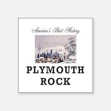 "ABH Plymouth Rock Square Sticker 3"" x 3"""