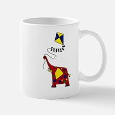Elephant Flying Kite Cartoon Mug