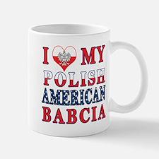I Heart My Polish American Babcia Mug