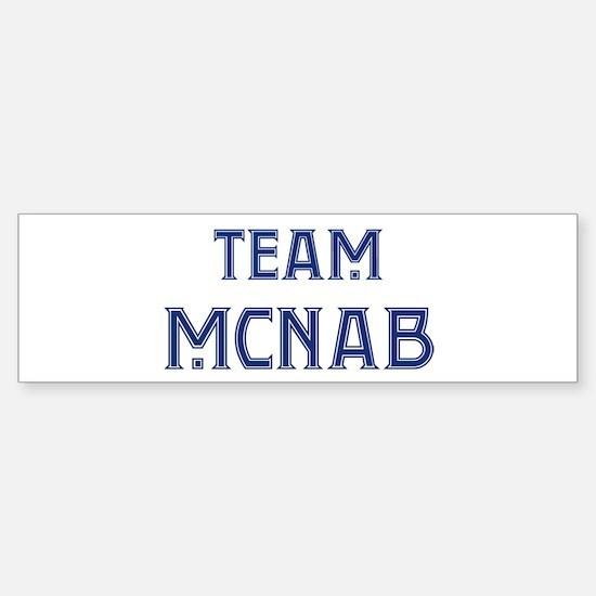 Team McNab Bumper Bumper Bumper Sticker