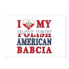 I Heart My Polish American Babcia Postcards (Packa