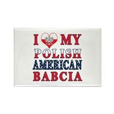 I Heart My Polish American Babcia Rectangle Magnet