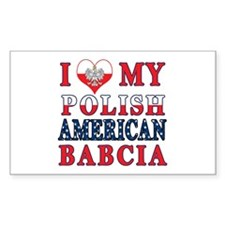 I Heart My Polish American Babcia Decal