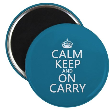 "Calm Keep and On Carry 2.25"" Magnet (100 pack)"