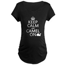 Keep Calm and Camel On Maternity T-Shirt