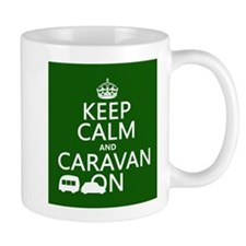 Keep Calm and Caravan On Small Mug