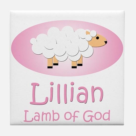 Lamb of God - Lillian Tile Coaster
