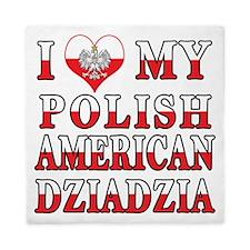 I Heart My Polish American Dziadzia Queen Duvet