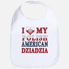 I Heart My Polish American Dziadzia Bib