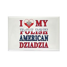 I Heart My Polish American Dziadzia Rectangle Magn