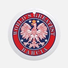 World's Greatest Babcia Ornament (Round)
