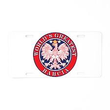 World's Greatest Babcia Aluminum License Plate