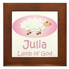 Lamb of God - Julia Framed Tile