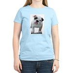 BULLDOG SMILES Women's Pink T-Shirt