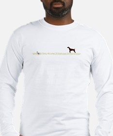 Solid Liver GSP on Chukar Long Sleeve T-Shirt