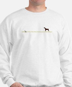 Solid Liver GSP on Chukar Sweatshirt