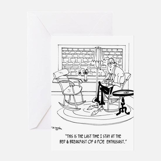 Edgar Allen Poe Cartoon 9485 Greeting Card