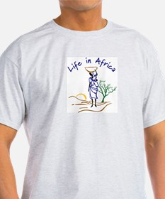 Life in Africa Wear: Ash Grey T-Shirt