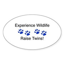 Experience Wildlife Raise Twi Oval Bumper Stickers