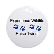 Experience Wildlife Raise Twi Ornament (Round)
