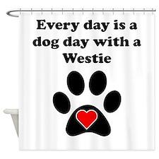 Westie Dog Day Shower Curtain