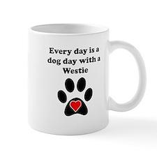 Westie Dog Day Small Small Mugs