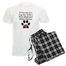 West Highland White Terrier Dog Day pajamas