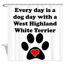 West Highland White Terrier Dog Day Shower Curtain