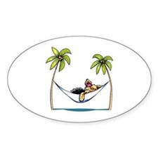 Yorkie Island Princess Decal