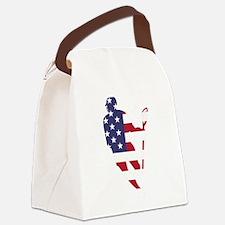 Lacrosse IRollMericaHorz Canvas Lunch Bag