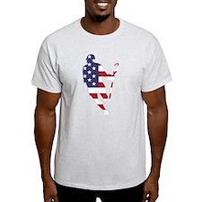 Lacrosse IRollMericaHorz T-Shirt