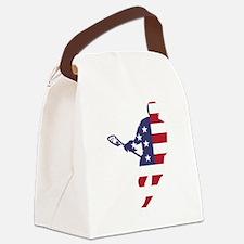 Lacrosse IRockMericaHorz Canvas Lunch Bag