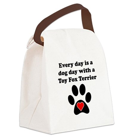 Toy Fox Terrier Dog Day Canvas Lunch Bag