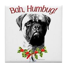 Bullmastiff Bah Humbug Tile Coaster