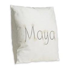 Maya Spark Burlap Throw Pillow