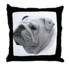 BULLDOG SMILES Throw Pillow