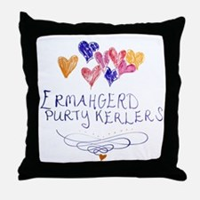 Purty Kerlers Throw Pillow