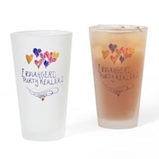 Purty Kerlers Drinking Glass