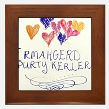 Purty Kerlers Framed Tile