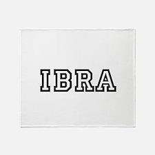 IBRA Throw Blanket