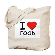 I love food Tote Bag